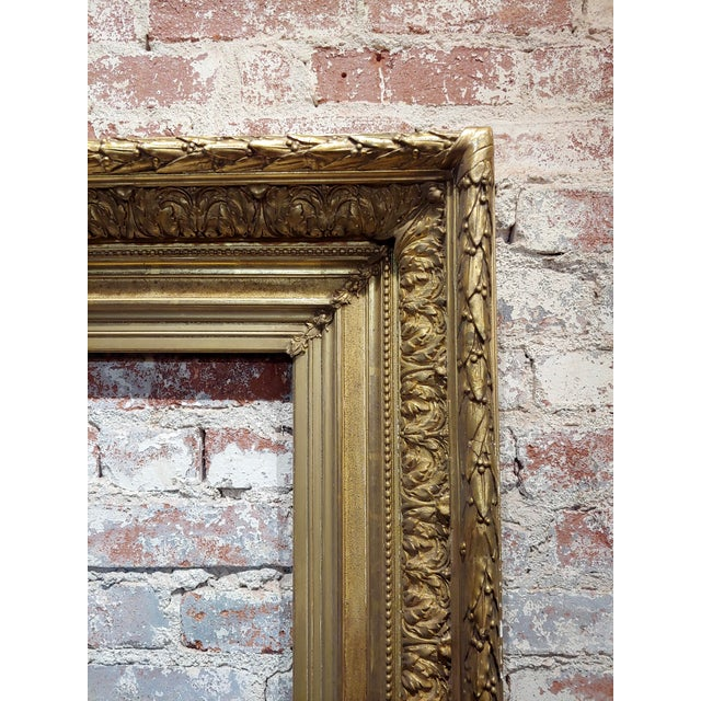 19th Century 19th Century Large Ornate Carved Gilt Wood Frame - C1860s For Sale - Image 5 of 8