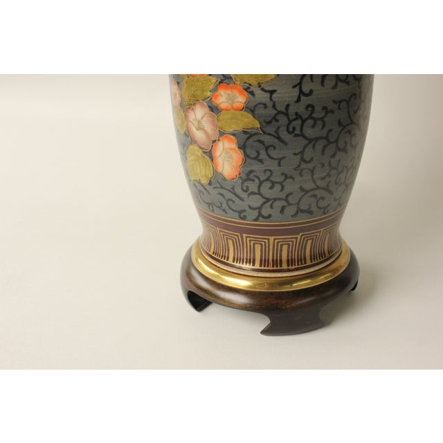 Frederick Cooper Floral Vase Table Lamp For Sale - Image 7 of 7