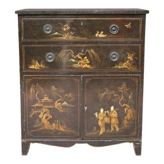 19th Century English Chinoiserie Cabinet