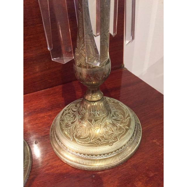 Mid-Century Modern 19th Century Anglo Indian Brass Candlesticks - a Pair For Sale - Image 3 of 7