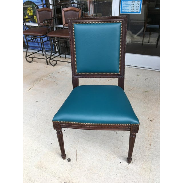 Massoud Regency Style Leather Accent Chair - Image 3 of 10