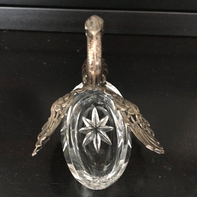 German Sterling Silver & Crystal Open Salt For Sale - Image 5 of 11