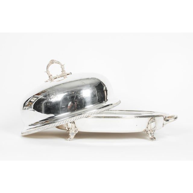 Mid 19th Century English Silver Plate Venison Dish With Covered Dome For Sale - Image 5 of 13