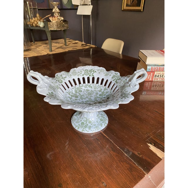 Mid 19th Century WR& Co William Ridgway 'Flosculous' French Pedestal Compote For Sale - Image 9 of 10