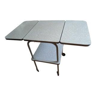 Vtg. Mid-Century Modern Rolling/Folding Kitchen Table For Sale