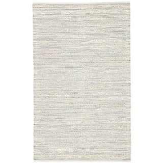Jaipur Living Canterbury Natural Stripe White & Blue Runner Rug - 2′6″ × 9′ For Sale