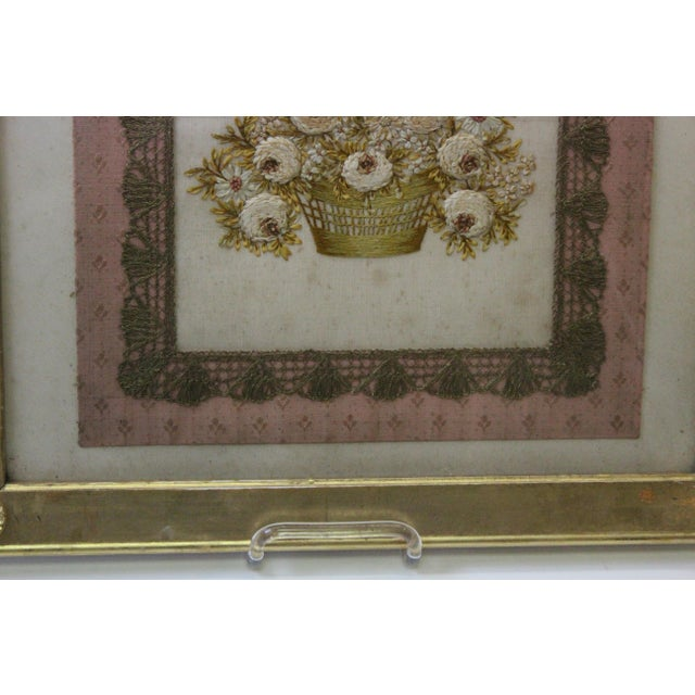 Gilded Thread Framed Embroidery For Sale In New York - Image 6 of 7