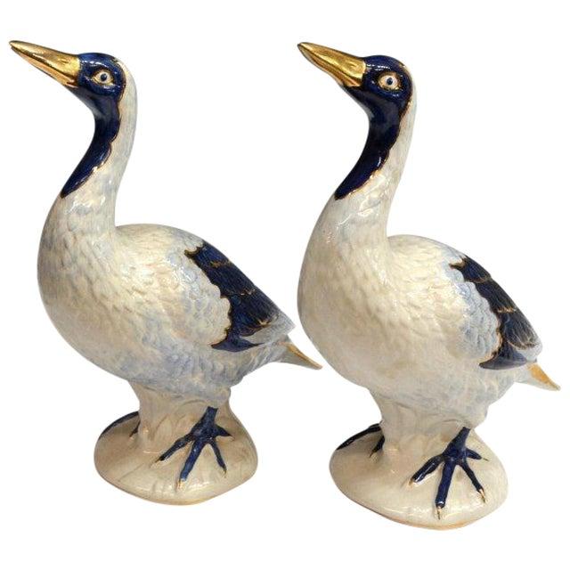 Vintage Glazed Ceramic Ducks - A Pair - Image 1 of 5