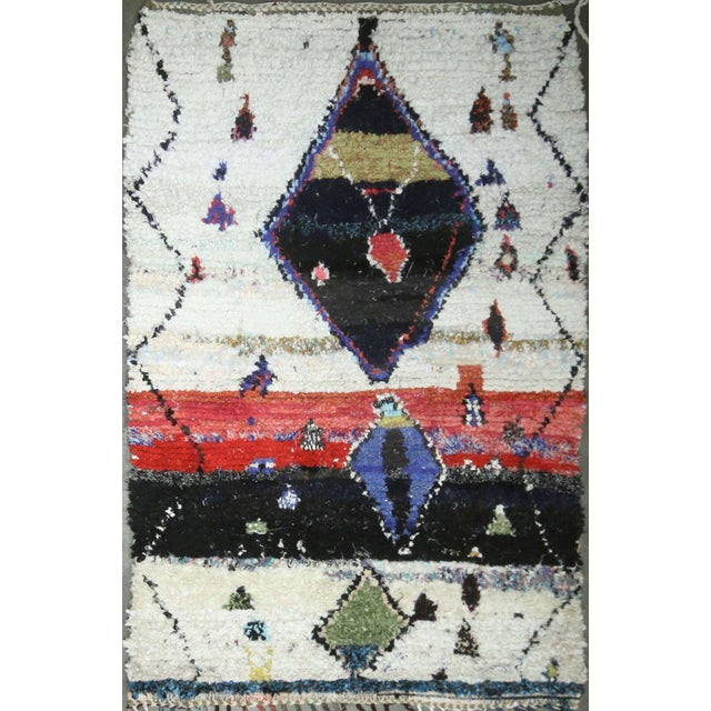 Islamic Vintage Mid-Century Hand-Knotted Moroccan Rug - 4′2″ × 6′4″ For Sale - Image 3 of 3