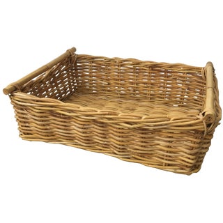 Vintage Rectangular Wicker Basket