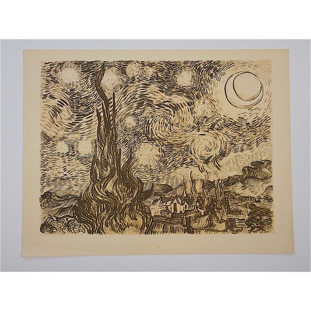 This vintage screenprint by world famous artist Vincent Van Gough (France/Belgium 1853-1890). He was active/lived in...