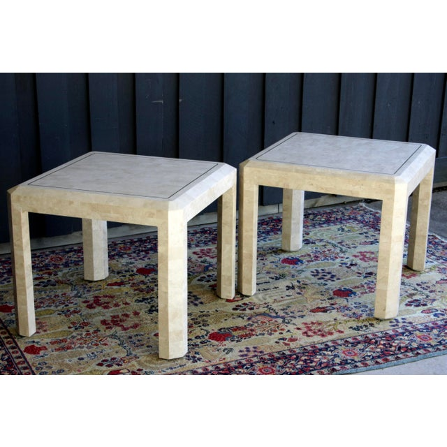 Maitland Smith Tessellated Marble Tables, a Pair For Sale In Dallas - Image 6 of 13