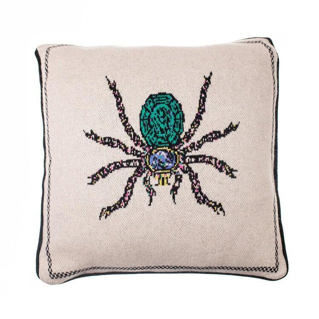 Contemporary Fee Greening - Spider Cashmere Pillow For Sale - Image 3 of 3