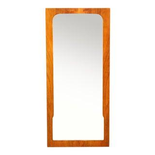 1960s Mid-Century Modern Teak Wall Mirror Full Length For Sale