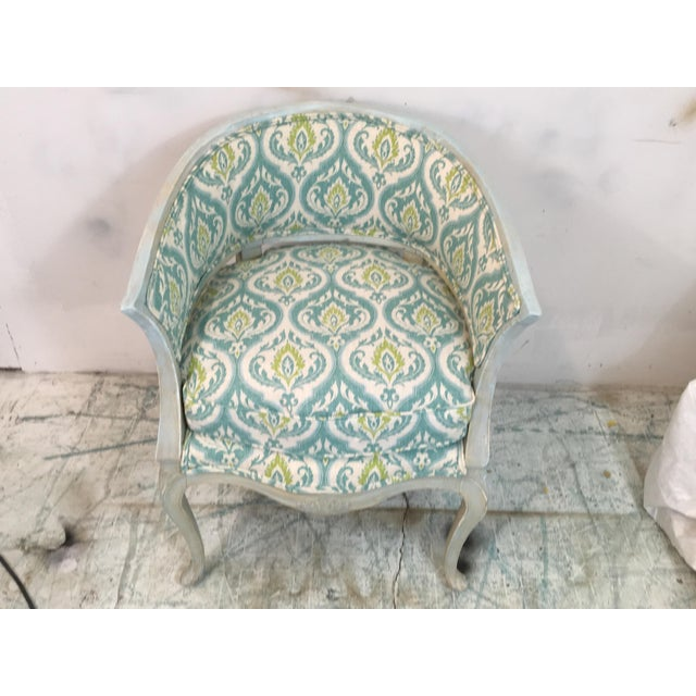 Italian Painted Arm Chair For Sale - Image 4 of 8