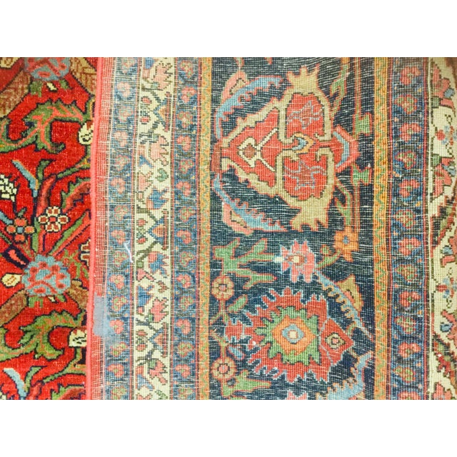 "1920's Persian Bijar Rug-9'1'x12"" For Sale - Image 9 of 10"