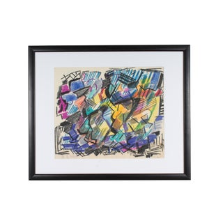 Late 20th Century Paul Chidlaw Abstract Expressionist Style Pastel Drawing For Sale