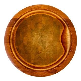 Vintage Dansk Round Cutting Serving Board For Sale