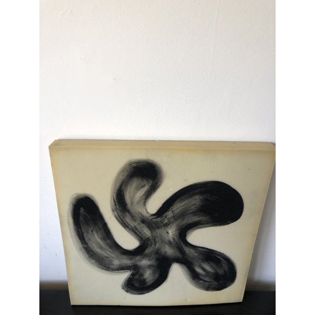 Airbrush Flower on Selvaged Foam Abstract Art For Sale In Los Angeles - Image 6 of 8