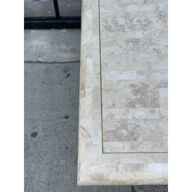 Gold Tessellated Stone Tile Coffee Table For Sale - Image 8 of 12