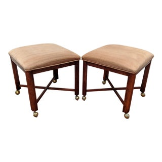 Parsons Ottomans on Casters - a Pair For Sale