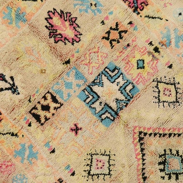 1960s Vintage Berber Moroccan Rug With Bohemian Postmodern, 5'9 X 11'7 For Sale - Image 5 of 10