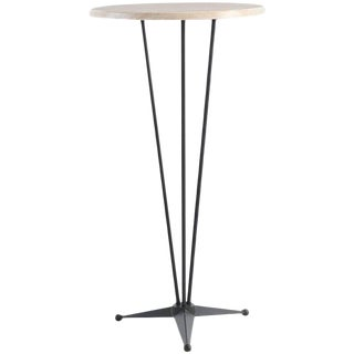 Round High Top Table With Steel Base and Werzalit Top, Cocktail Table