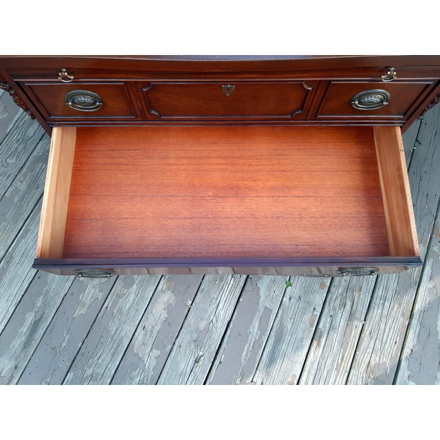 Vintage 1940's Mahogany 4 Drawer Server Accent Chest For Sale - Image 12 of 13