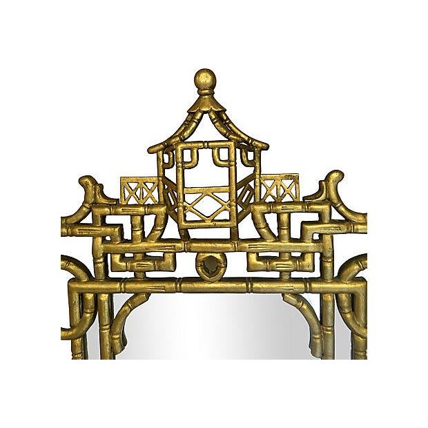 Faux-Bamboo Gilt Mirror For Sale - Image 4 of 7