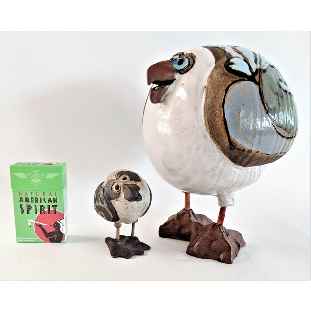 Ceramic 1980s Mid Century Modern Studio Pottery Seagull Sculptures - 2 Pieces For Sale - Image 7 of 13