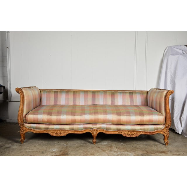 Mid 20th Century 20th Century Louis XV Style Carved Wood Sofa or Daybed For Sale - Image 5 of 13
