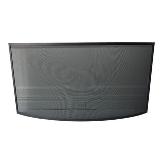 Bowed Freestanding Fireplace Screen For Sale