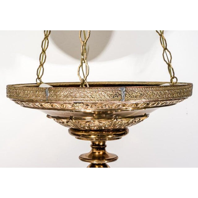 Brass Gothic Revival Chandelier 1920s England For Sale In West Palm - Image 6 of 13