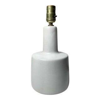 Gordon Martz Ceramic Table Step Lamp in White For Sale