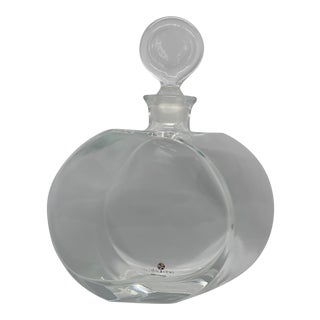 Early 21st Century Global Views Offset Shape Round Glass Decanter For Sale