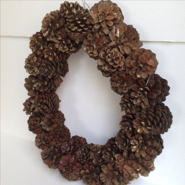 Vintage Natural Pinecone Wreath - Image 6 of 11