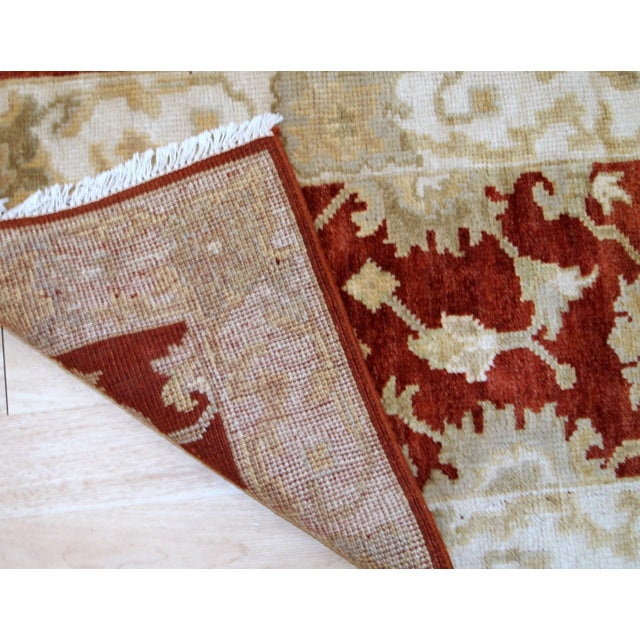 Textile 1980s, Handmade Vintage Indo-Mahal Rug 2.1' X 3.2' For Sale - Image 7 of 9
