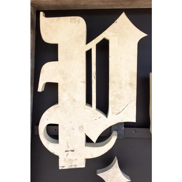 Early 20th Century Antique French Parisian Shop Sign For Sale - Image 9 of 12