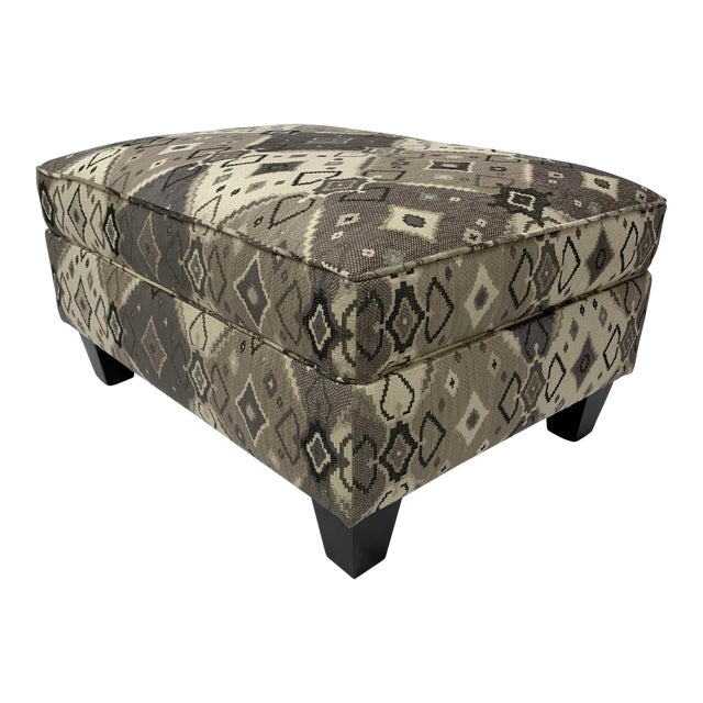 Late 20th Century Grey-tone Ottoman For Sale
