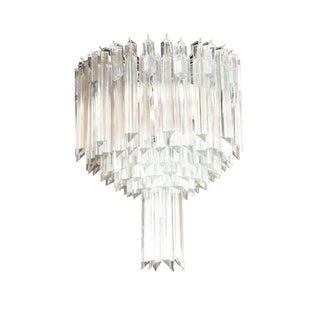 Camer Glass Chandelier For Sale