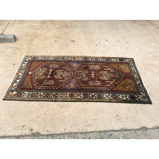 Thick and Heavy and Hearty Persian Kourdish Rug - 3′5″ × 6′5″ - Image 2 of 9