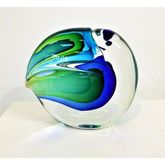 Very rare large toucan in sommerso glass( Multiple layers of colored glass) by Antonio da Ros for Vetreria Artistica...
