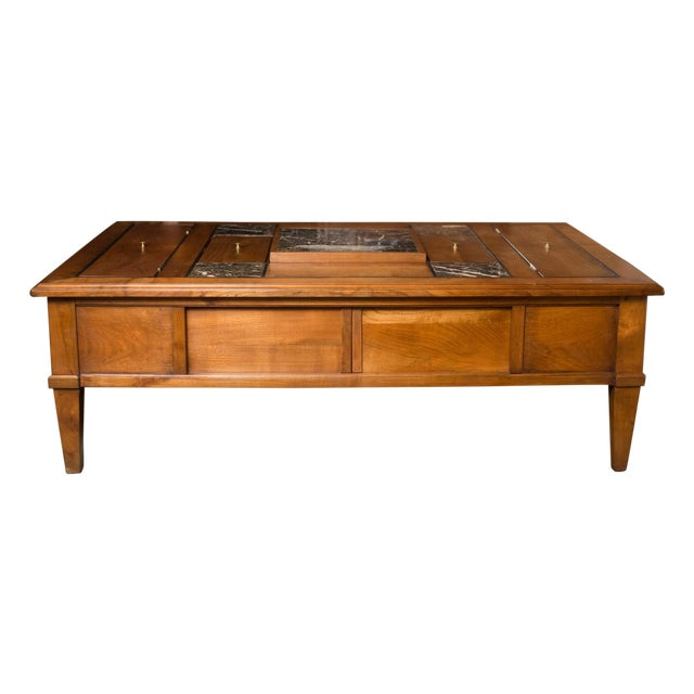 Mid Century French Coffee Table W Chess Board Chairish