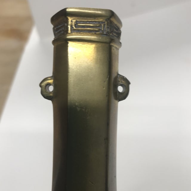 Vintage Faceted Brass Bud Vase For Sale In Boston - Image 6 of 7