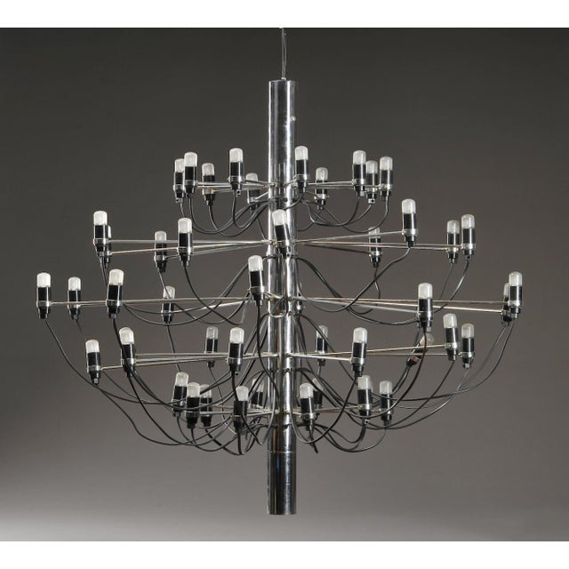 Mid Century Chromed 2097 50 Chandelier By Gino Sarfatti For Flos