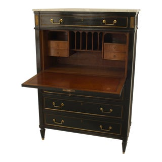 French Ebonized Secretary Desk For Sale