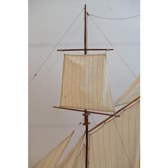 Blue Early 20th C. Monumental Ship Model C. 1940 For Sale - Image 8 of 12