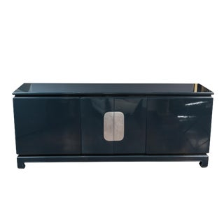 1980's Asian Influenced Lacquered Sideboard For Sale