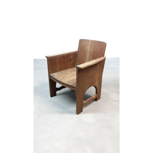Early 20th Century Vintage Early European Arts and Crafts Chair For Sale - Image 9 of 12