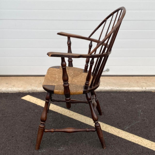 Early 20th Century Antique Sack Back Windsor Chair For Sale - Image 5 of 13